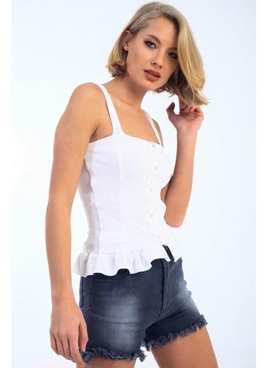 Emjey Bluz Beyaz